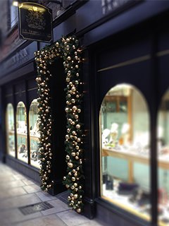 Shop front door for Christmas